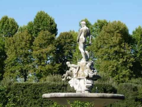Italy Florence Boboli Gardens Italië Boboli tuinen achter Palazzo ...