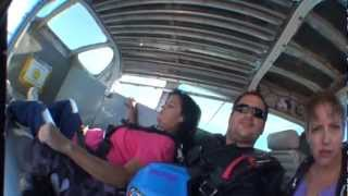 First Time Sky Diving - Scared