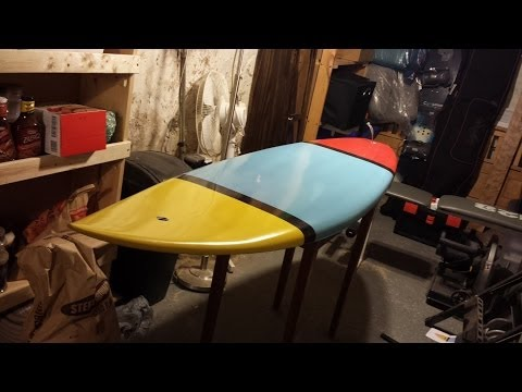 "6'2"" Shortboard Surfboard Construction Time-lapse"