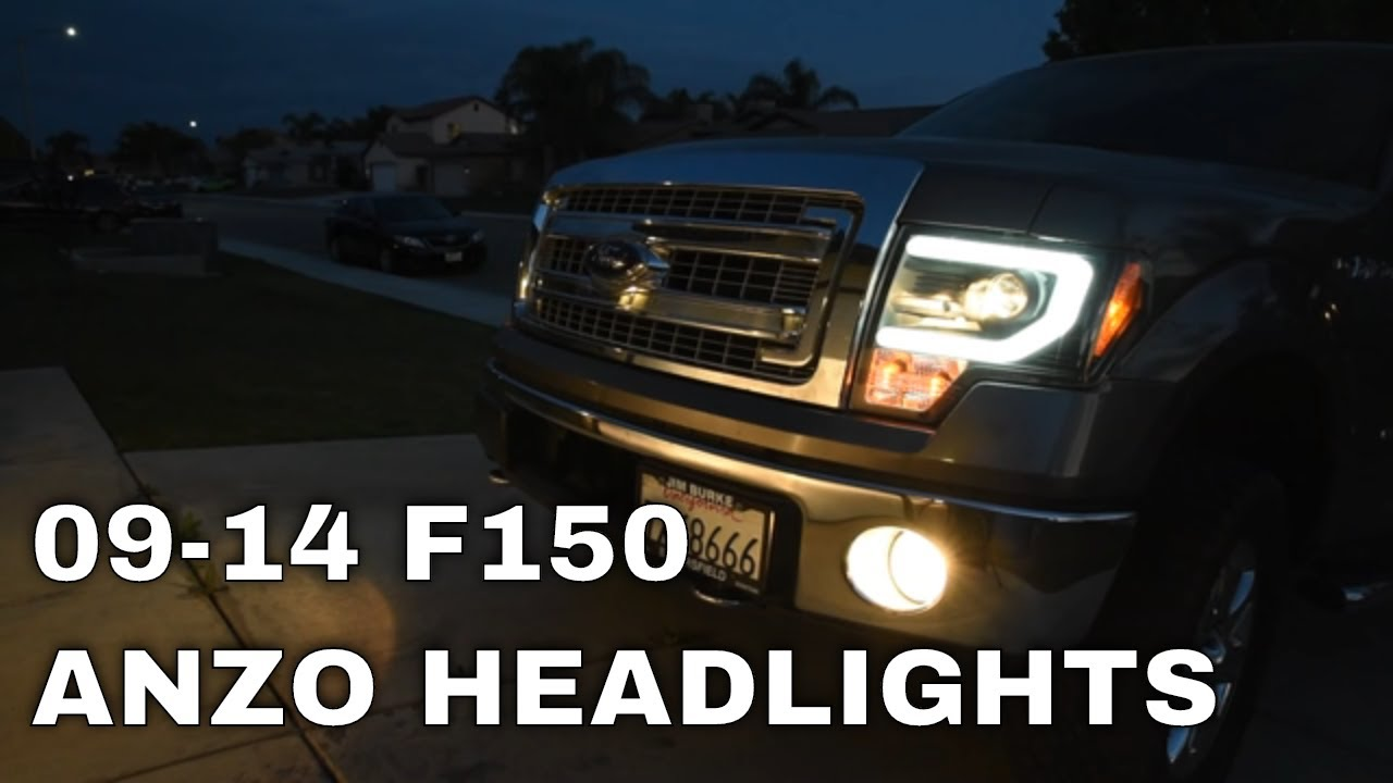 hight resolution of 2014 f150 headlights install review spyder led halo projector headlights 2009 2014