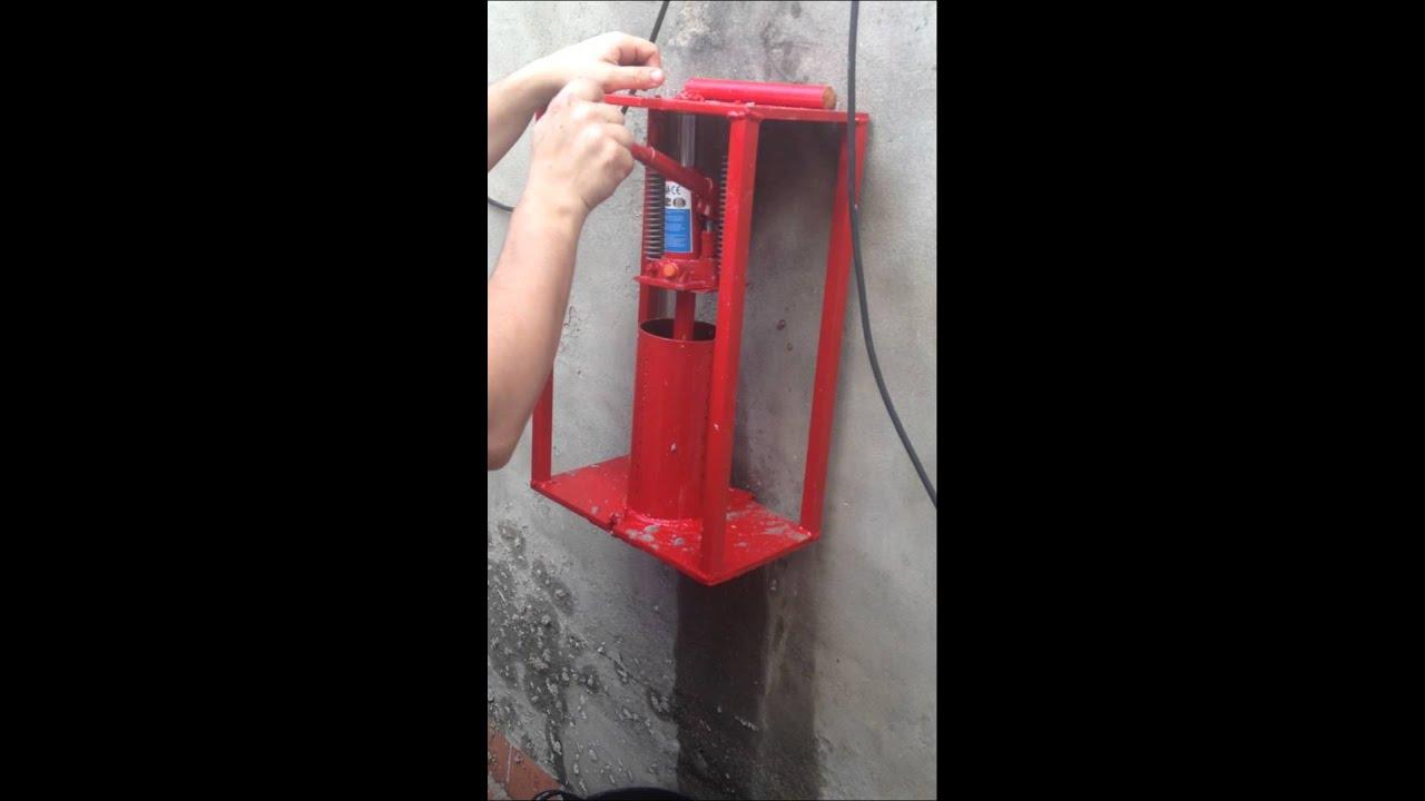 Maquina Briquetas Casera Youtube
