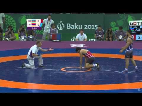 Mihran Harutyunyan ARMENIA win hasan aliev AZE in Baku European Games 2015