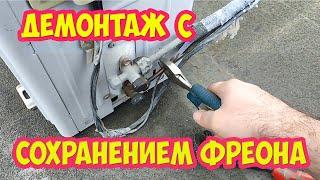 Демонтаж кондиционера со стены своими руками: видео