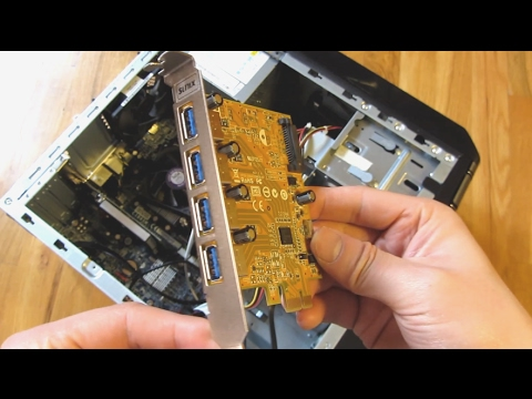 How to Install a USB 3.0 PCIe Express Expansion Card (Sunix 4-Port)