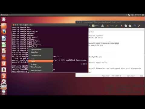 Install Ubuntu  PHP,ASP,JSP,Apache,Phpmyadmin,MySQL,FTP