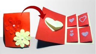 Valentine easy card-how to make valentine card/valentine day card/handmade card ideas 2019-Tuber Tip