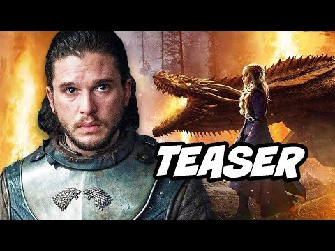 Game Of Thrones Season 8 Teaser - Jon Snow and Daenerys Dragons Behind The Scenes Breakdown