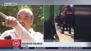 Persecución policial termina en balacera tras robo a tienda telefónica en Las Condes