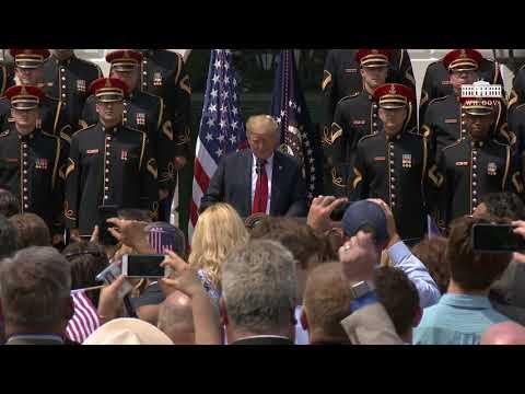 President Trump Participates in the Celebration of America