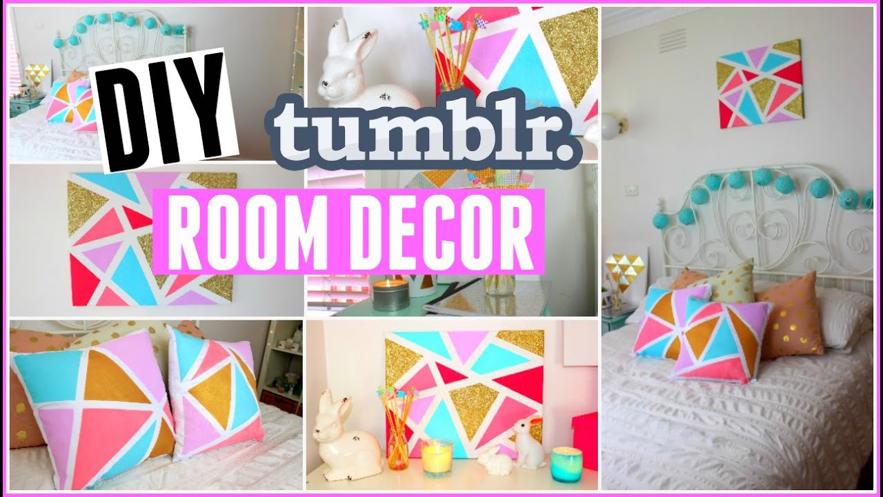 Diy tumblr room decor for summer easy inexpensive diy for Room decor videos diy