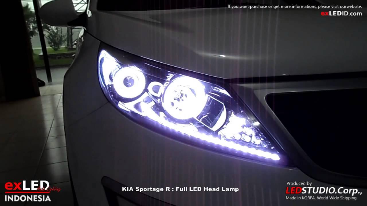 Kia Sportage R Full Led Head Lamp Youtube