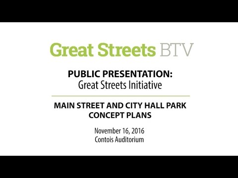 Main Street/St. Paul and City Hall Park Concept Plans Presentation - 11/16/16