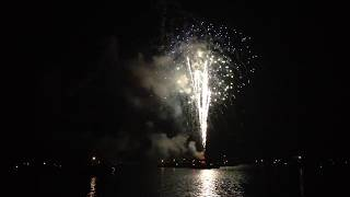 Fireworks Display on Tenmile Lake, Oregon Coast