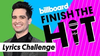 Panic! at the Disco Lyrics Challenge | Finish the Hit | Billboard Video