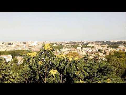 Una Vista Da Terrazza Del Gianicolo Roma 05 08 2017