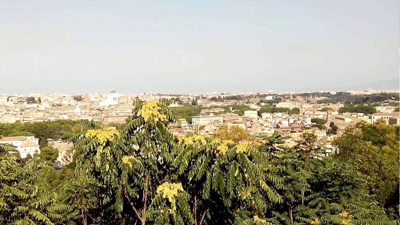 Una vista da Terrazza del Gianicolo (Roma) * 05-08-2017 - YouTube