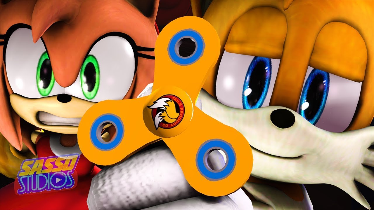 Tails Invents The Fidget Spinner Sonic The Hedgehog Animation Sfm 4k Youtube