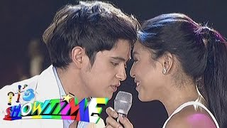 It's Showtime: James, Nadine sing