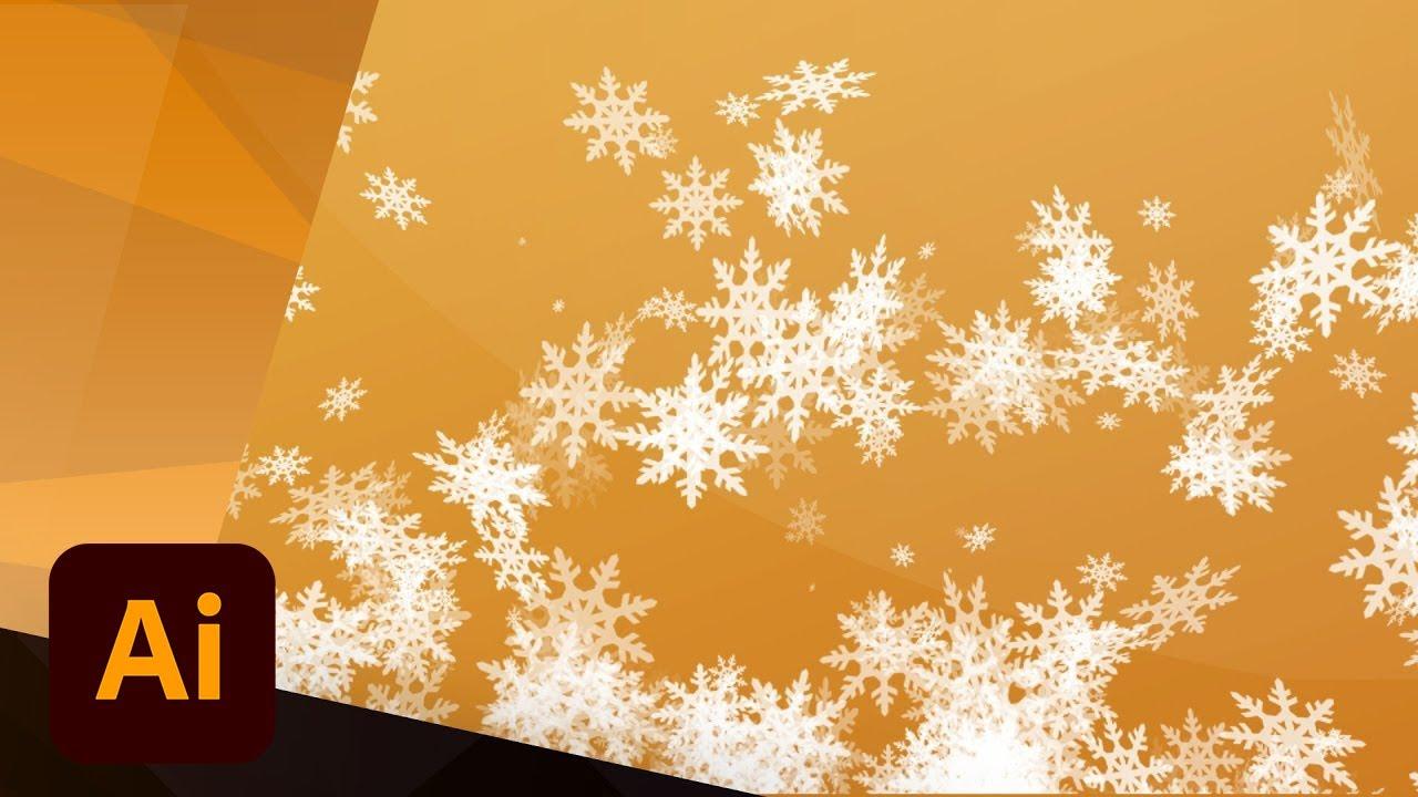 create a vector snowflake in illustrator tutorial youtube