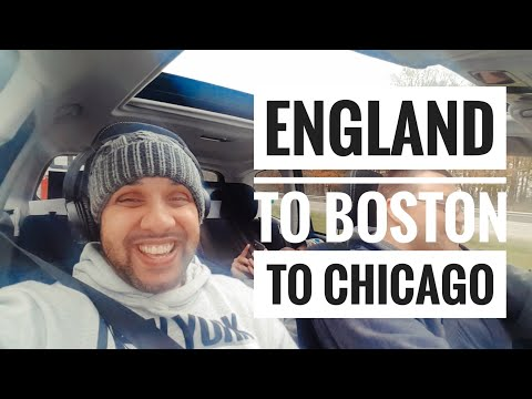 Manchester (England) to Boston to Chicago. Aquatic Experience VLOG 1
