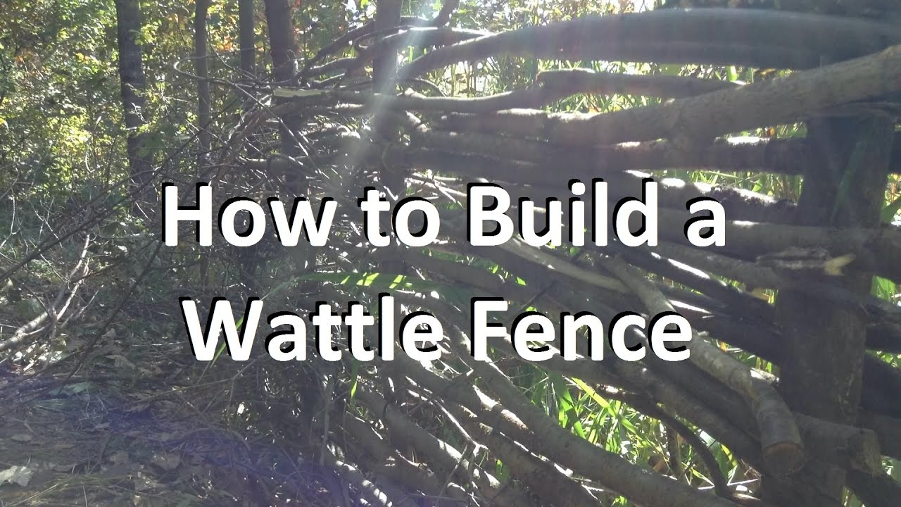how to build a wattle fence youtube. Black Bedroom Furniture Sets. Home Design Ideas