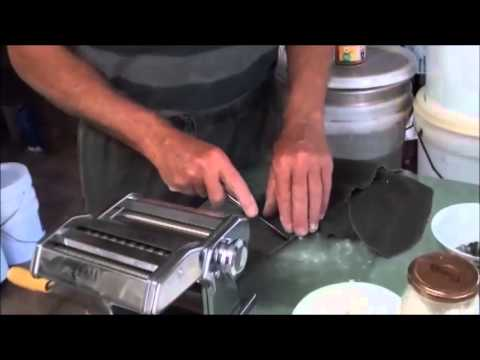 How To Make SQUID INK PASTA From The Squid.