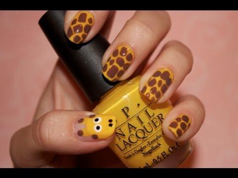 Tutorial Giraffe Nails Youtube