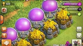 Clash Of Clans Level 5 Attack Giants, Archers level 6 , Archer Queen