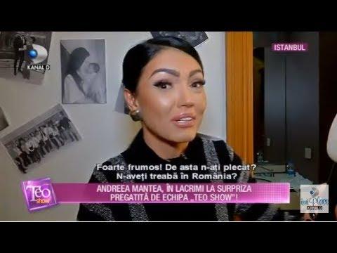 Teo Show (17.12.2018) - Andreea Mantea, in lacrimi! Ce surpriza i-a pregatit echipa