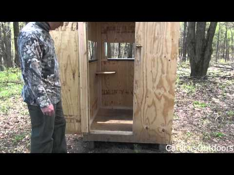 How To Build A Deer Blind - Remastered