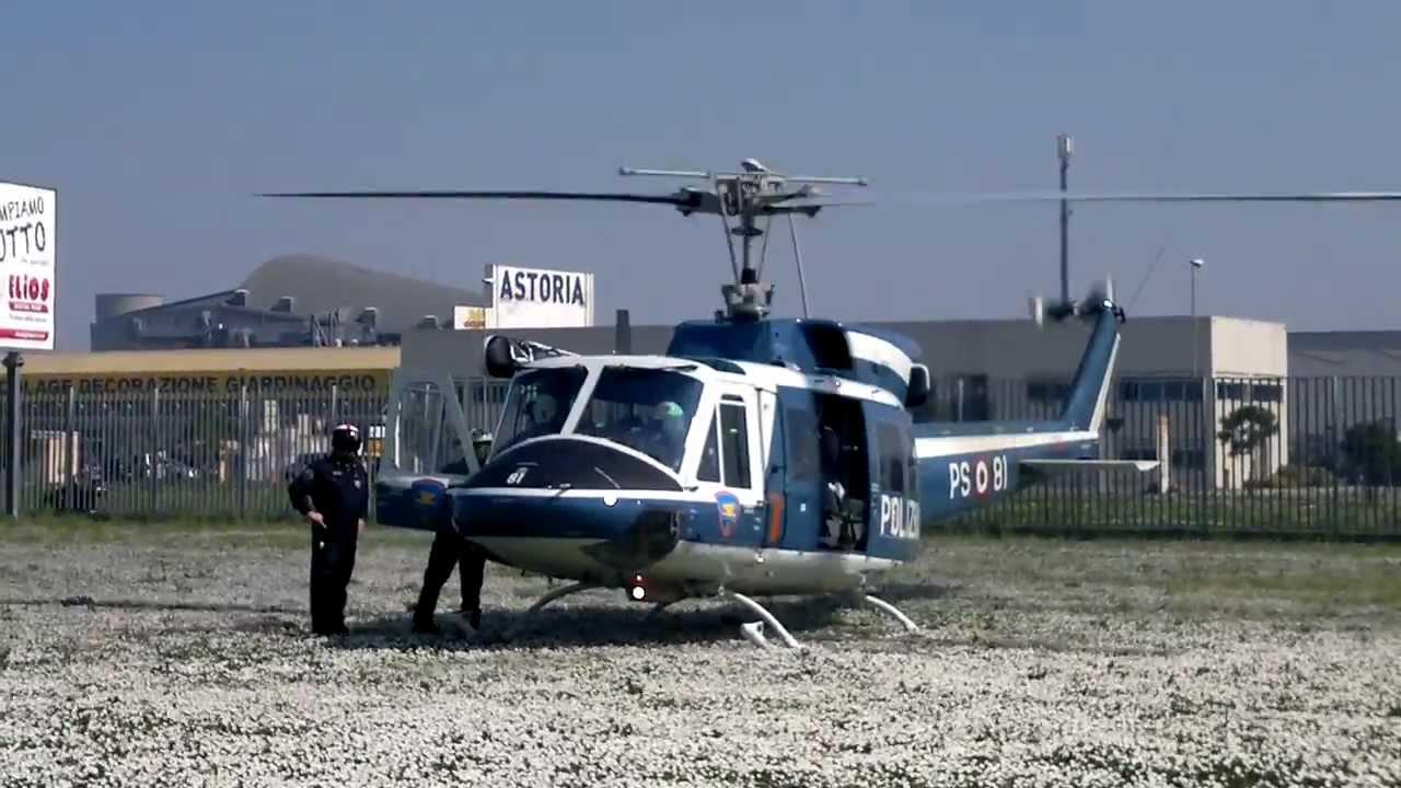 Elicottero Polizia : Atterraggio elicottero ab polizia youtube