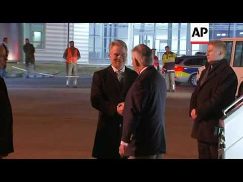 US Secretary of State Tillerson arrives in Germany