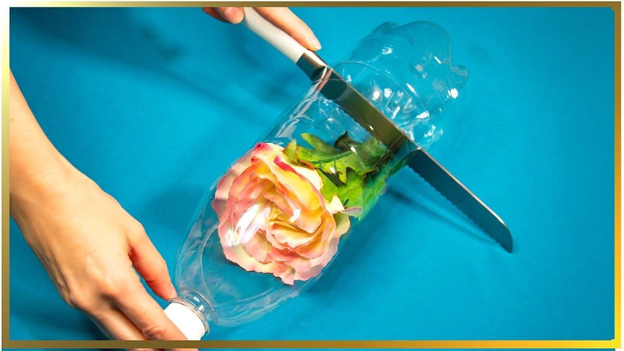 Idee incredibilă de reciclare a pet-ului, trandafir fermecat!