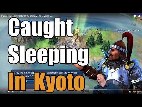Mongol horse army catches the Japanese asleep in Kyoto