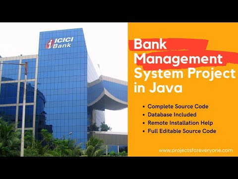 Banking Management System Project in Java with Swings, JDBC