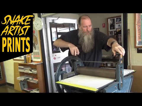How to set the press for printmaking