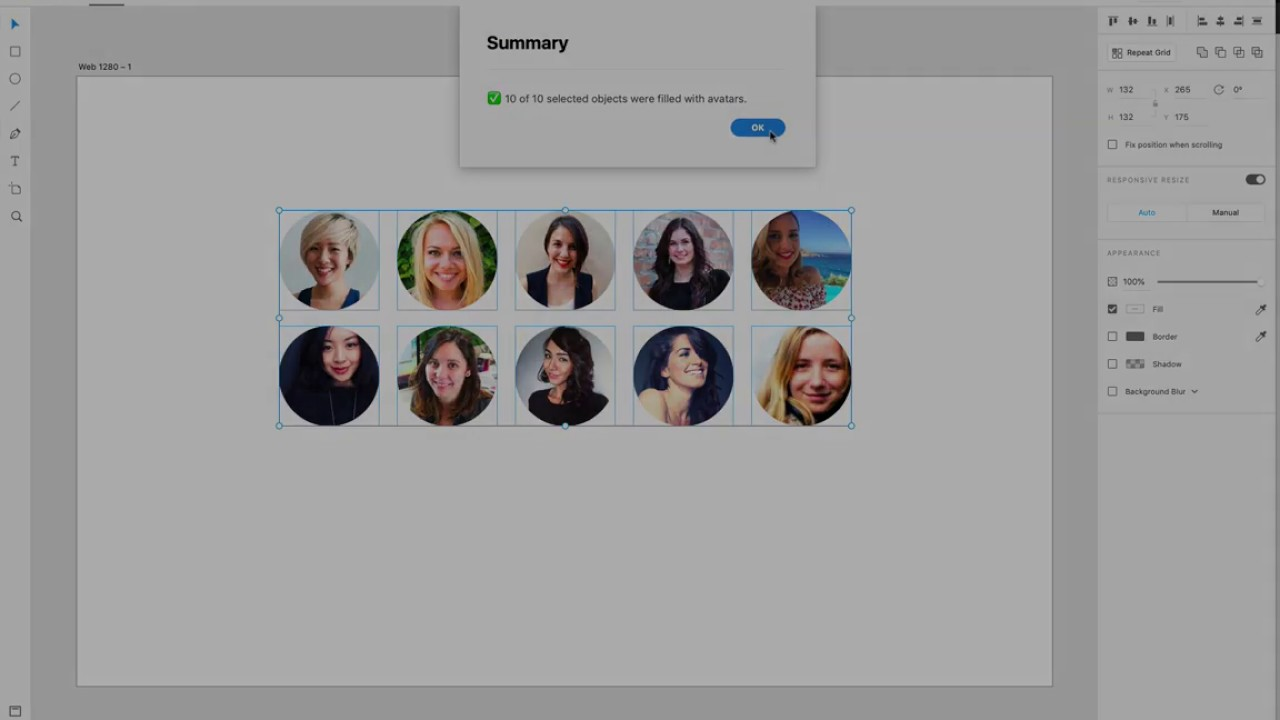 UI Face Plugin in Adobe XD, Generate avatars in your design mockups