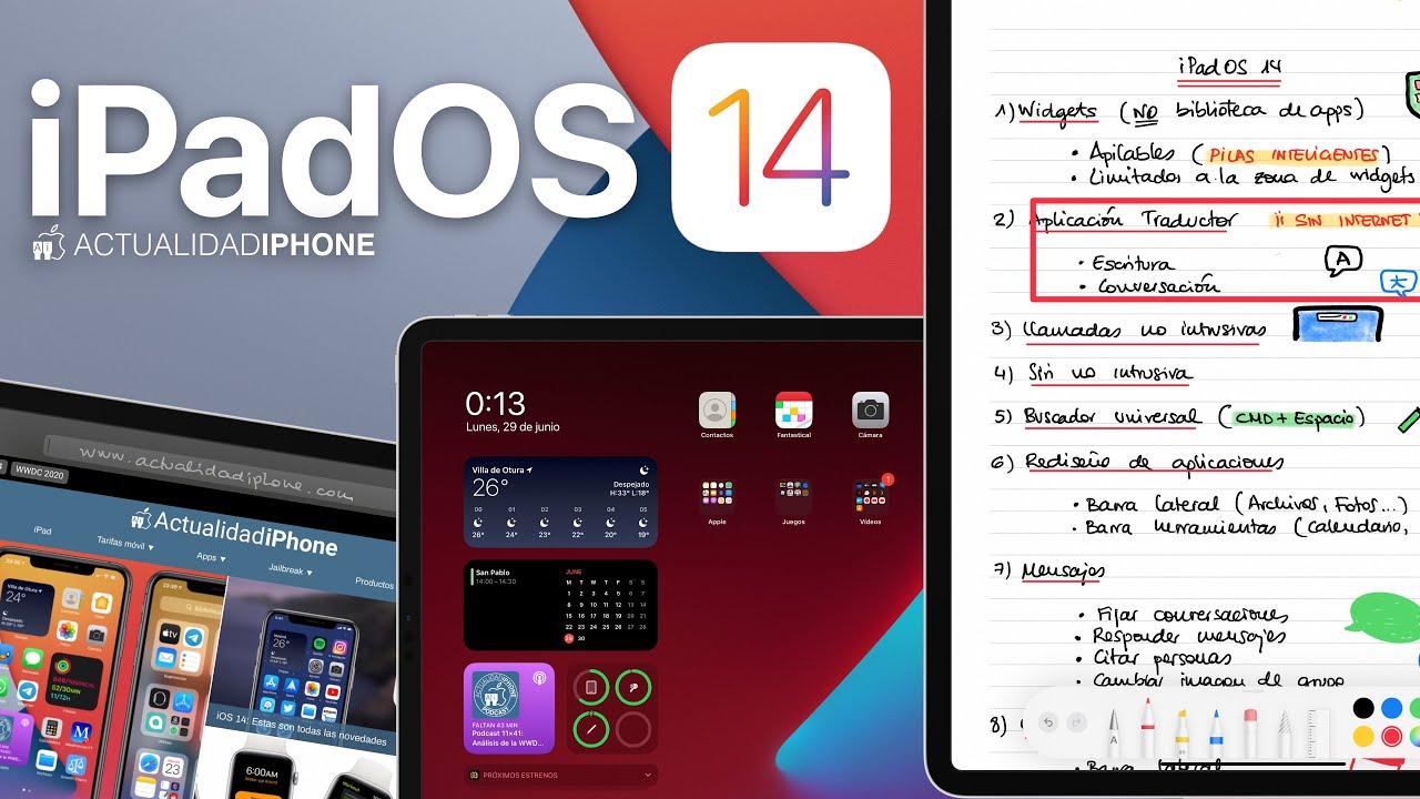 Novedades de iPadOS 14