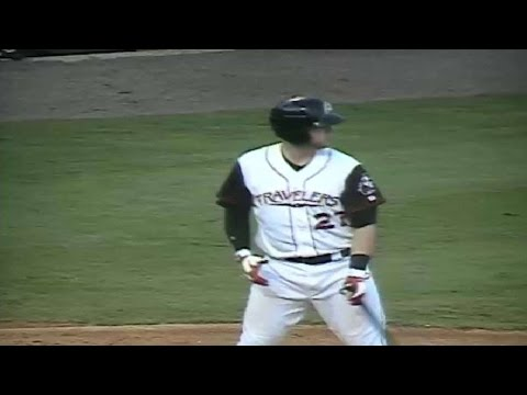 Jett Bandy hits a home run for the Travelers