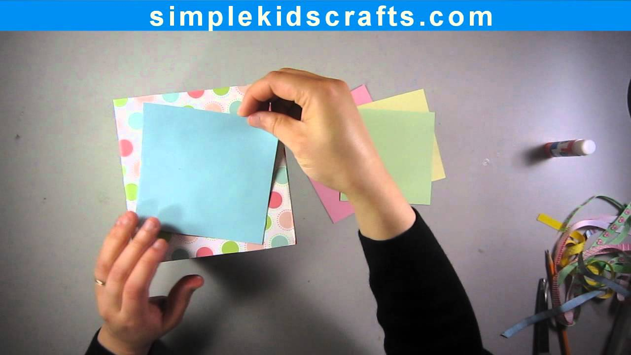 How to make scrapbook with construction paper - How To Make A Scrapbooking Friendship Memory Giftbox Ep Simplekidscrafts