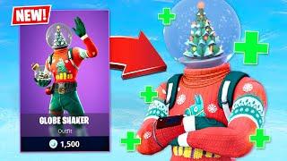 SIPHON IS BACK!! New Globe Shaker Christmas Skin! (Fortnite Battle Royale)