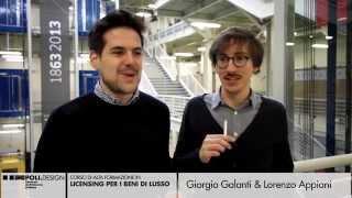 [Licensing per i Beni di Lusso] Testimonianze degli Studenti - Giorgio Galanti e Lorenzo Appiani