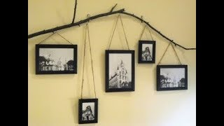 Picture Hanger Ideas | DIY Hanging Photo Display, Creative Wall Decorating Gallery Family Photo 2018