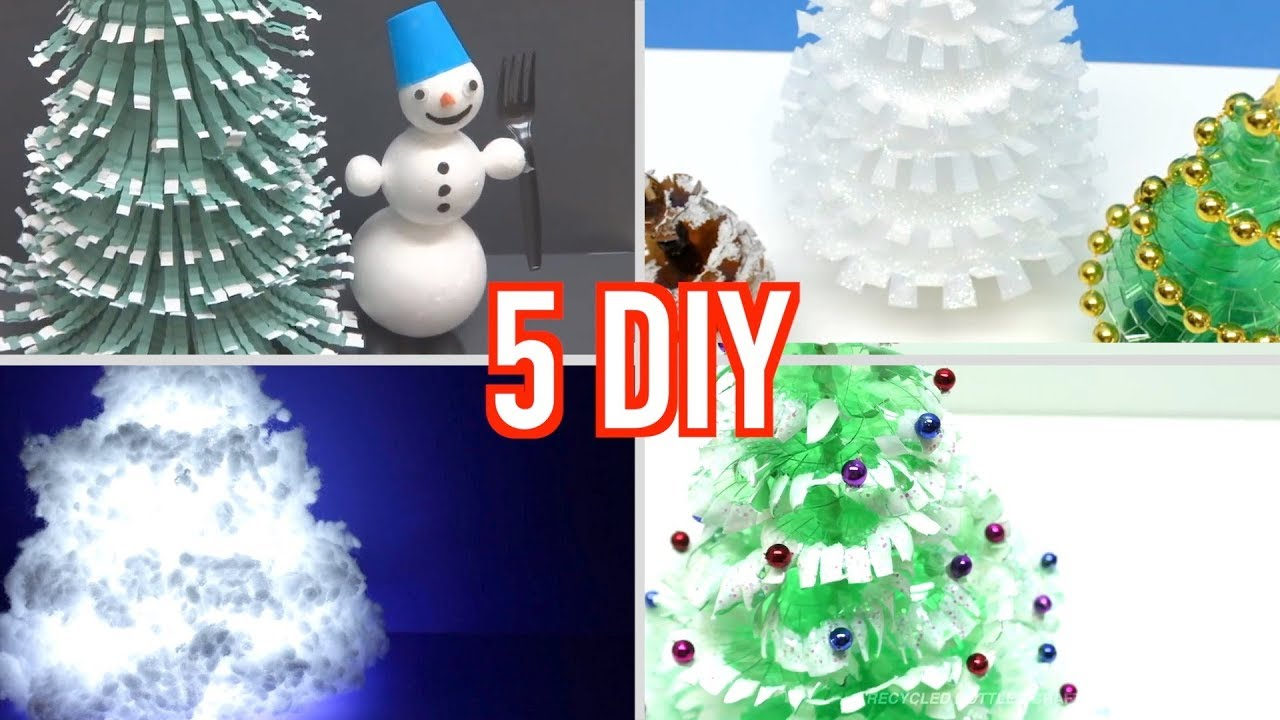 How to make a christmas tree using plastic bottle