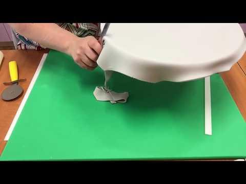 Πως να καλύψουμε μια βάση τουρτας με ζαχαρόπαστα