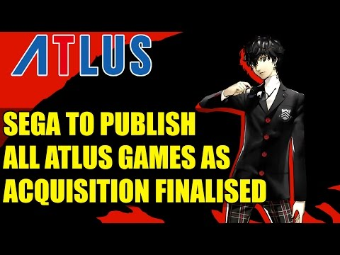 Sega to Publish All Future Atlus Titles As Acquisition Finalised