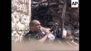Kosovo: KLA Fighters Clash With Serb Paramilitary Police - 1998