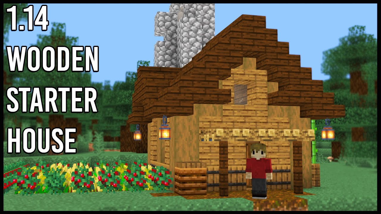How to make a Minecraft 12.124 Wooden Starter Base