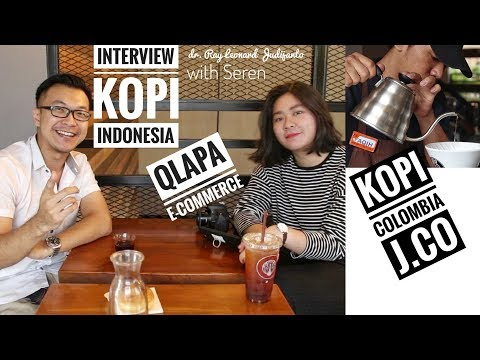 KOPI COLOMBIA J.CO , COFFEE INTERVIEW , QLAPA E-COMMERCE with Seren - VLOG