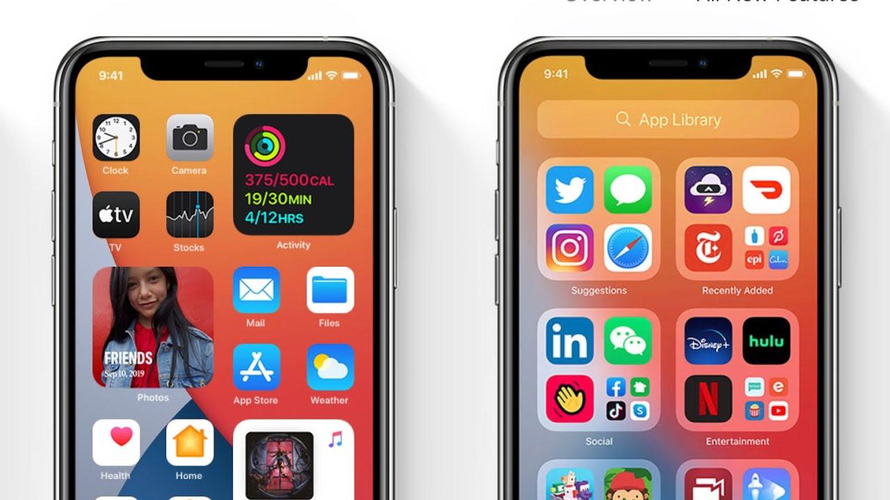 ريستور حذف اصدار الايفون تجريبي iOS 14
